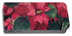 Seasonal Scarlet 2 Portable Battery Charger by Barbara Jewell