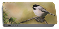 Season's Greetings Chickadee Portable Battery Charger