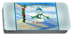 Portable Battery Charger featuring the painting Seasons Greetings From Our Mailbox To Yours by Kimberlee Baxter