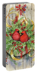 Seasons Greetings Portable Battery Charger by Kathleen Parr Mckenna
