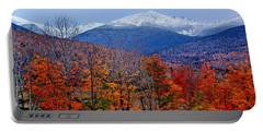 Seasons' Shift #2 - Mount Washington - White Mountains Portable Battery Charger by Nikolyn McDonald