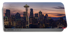 Seattle Cityscape Morning Light Portable Battery Charger