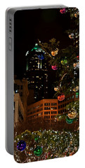 Seattle Downtown Christmas Time Art Prints Portable Battery Charger