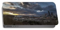 Seattle Dramatic Dusk Portable Battery Charger