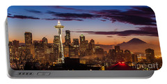 Seattle Fog Sunrise Portable Battery Charger