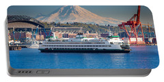 Seattle Harbor Portable Battery Charger by Inge Johnsson