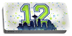 Seattle Seahawks 12th Man Art Portable Battery Charger