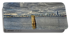 Seattle Skyline And Cityscape Portable Battery Charger