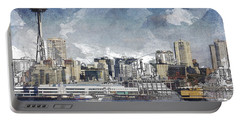 Seattle Skyline Freeform Portable Battery Charger