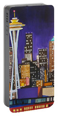 Seattle Skyline Portable Battery Charger