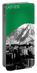Seattle Skyline Mt. Rainier - Forest Green Portable Battery Charger