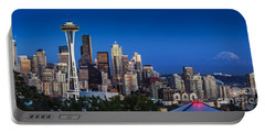 Seattle Skyline Panoramic Portable Battery Charger
