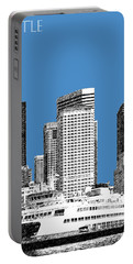 Seattle Skyline - Slate Portable Battery Charger