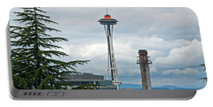 Seattle Spaceneedle Golden Anniversary Art Prints Portable Battery Charger
