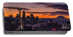 Seattle Sunrise Purples Portable Battery Charger
