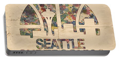Seattle Supersonics Poster Vintage Portable Battery Charger