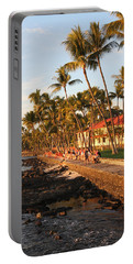 Seawall At Sunset Portable Battery Charger