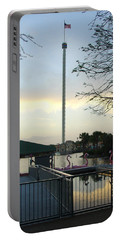 Portable Battery Charger featuring the photograph Seaworld Skytower by David Nicholls