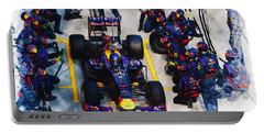 Sebastian Vettel Of Germany Portable Battery Charger