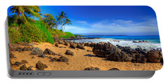 Secret Beach Maui Portable Battery Charger by Kelly Wade