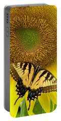 Portable Battery Charger featuring the photograph Secret Lives Of Sunflowers by Kim Bemis