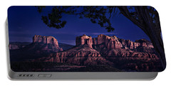 Sedona Cathedral Rock Post Sunset Glow Portable Battery Charger