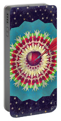 Portable Battery Charger featuring the digital art Seduction  by Eleni Mac Synodinos