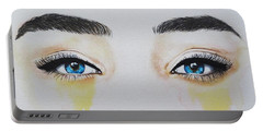 Seeing Into The Soul Secretive Portable Battery Charger by Malinda  Prudhomme