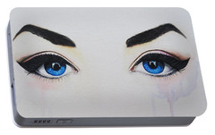 Portable Battery Charger featuring the painting Seeing Into The Soul Seductive by Malinda  Prudhomme