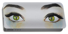 Seeing Into The Soul Sensitive Portable Battery Charger by Malinda  Prudhomme