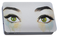 Portable Battery Charger featuring the painting Seeing Into The Soul Sensitive by Malinda  Prudhomme