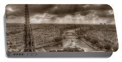 Seine From Notre Dame Portable Battery Charger