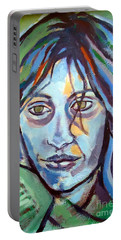 Portable Battery Charger featuring the painting Self Portrait by Helena Wierzbicki