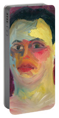 Self Portrait Oil Panting Portable Battery Charger