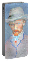 Self-portrait With Gray Felt Hat Portable Battery Charger