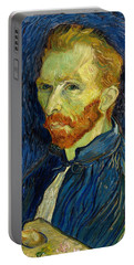 Portable Battery Charger featuring the painting Self Portrait With Palette by Vincent Van Gogh
