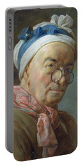 Self Portrait With Spectacles, 1771 Pastel On Paper Portable Battery Charger