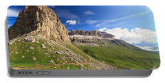 Portable Battery Charger featuring the photograph Sella Mountain And Pordoi Pass by Antonio Scarpi
