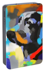 Portable Battery Charger featuring the painting Dog Sem by Go Van Kampen