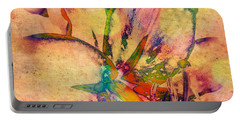 Springtime Floral Abstract Portable Battery Charger