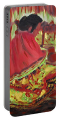 Seminole Indian At Work Portable Battery Charger