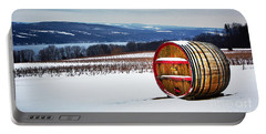 Seneca Lake Winery In Winter Portable Battery Charger