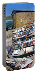 Sennen Cove Fishing Fleet Portable Battery Charger by Terri Waters