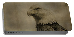Sepia Bald Eagle Portrait Portable Battery Charger by Dan Sproul