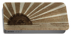 Sepia Sunset Original Painting Portable Battery Charger by Sol Luckman