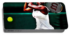 Serena Williams 3a Portable Battery Charger by Brian Reaves