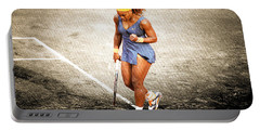 Serena Williams Count It Portable Battery Charger by Brian Reaves