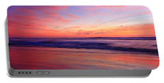 Portable Battery Charger featuring the photograph Serene Oceanside Glow by John F Tsumas