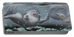 Portable Battery Charger featuring the painting Serenity by Dianna Lewis