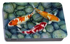 Serenity Koi Portable Battery Charger by Hailey E Herrera